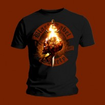 BLACK LABEL SOCIETY - FLAMING SKULL MENS TEE
