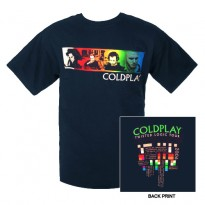COLDPLAY - COLOR STRIPE MENS TEE