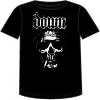 DOWN - SMOKING JESUS SKULL MENS TEE