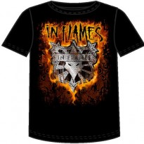 IN FLAMES - SHIELD FLAMES MENS TEE