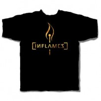 IN FLAMES - BURNING MATCH MENS TEE