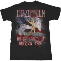 LED ZEPPELIN - AMERICA 1977 MENS TEE