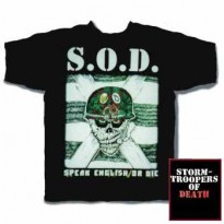 STORMTROOPERS OF DEATH - SPEAK ENGLISH OR DIE MENS TEE